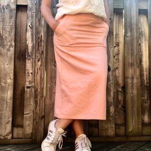 Jessica Sport Peach Midi Sports Warm Pencil Skirt